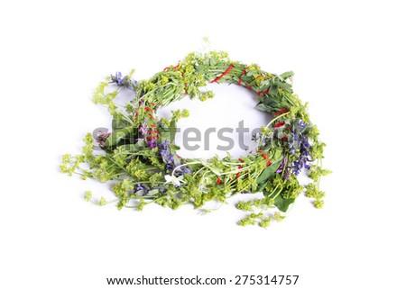 Flower crown - stock photo