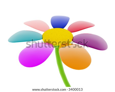 flower 3d - stock photo