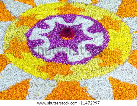 flower decoration for indian festival - stock photo