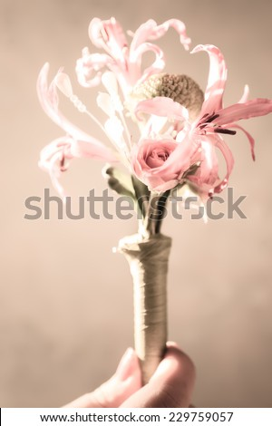 Flower for the groom's suit - stock photo