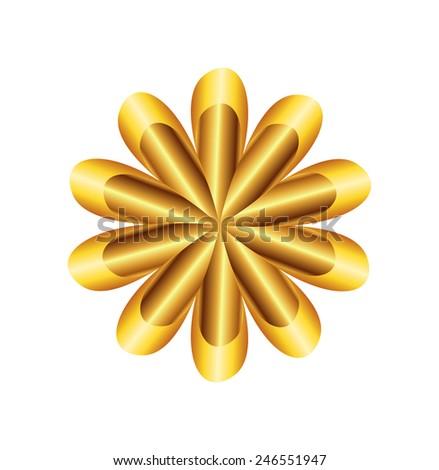 Flower Golden Ratio Circular symbol  template - stock photo