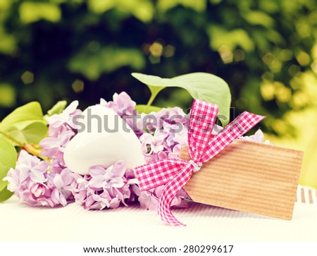 flower greeting card background for your text - stock photo