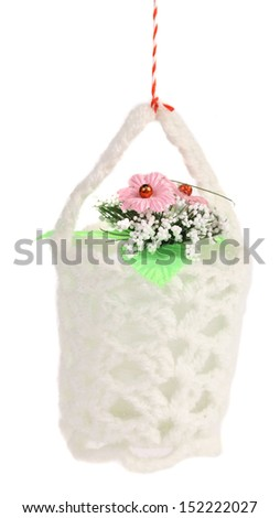 Flower in a basket - stock photo
