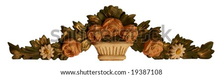 Flower Ornaments object to decorate your home and designs. - stock photo