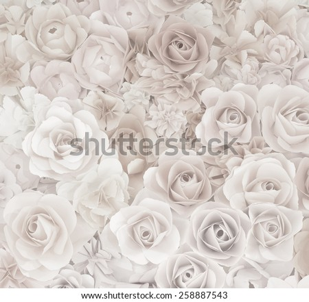 flower paper-craft texture background - stock photo