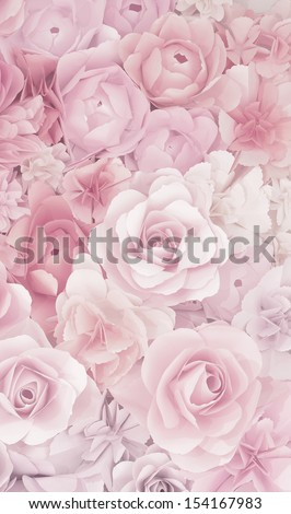 flower papercraft texture background - stock photo
