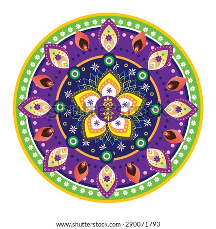 Flower pattern mandala - stock photo