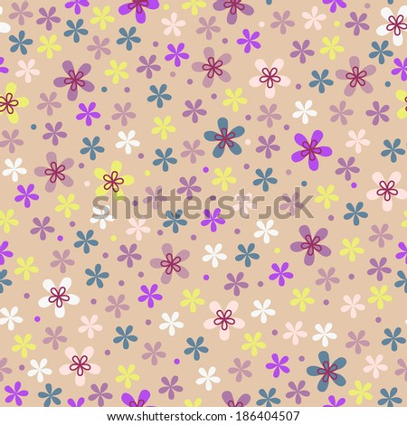 Flower seamless color pattern  - stock photo