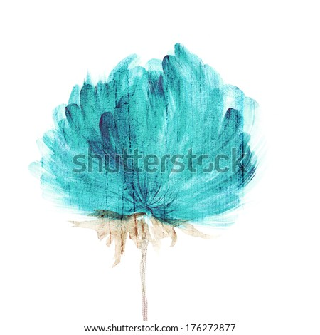 Flower. Watercolor floral background. Floral decorative element. - stock photo