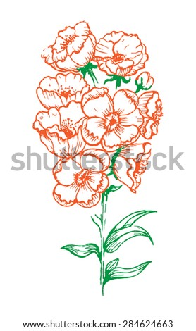 Flower with background - stock photo
