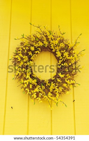 flower wreath - stock photo