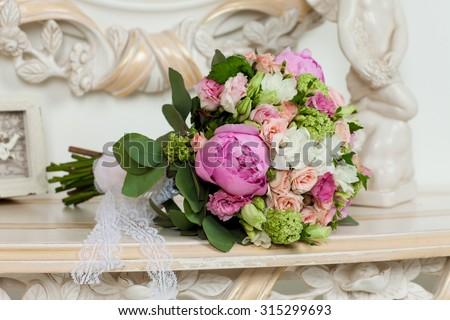 flowers for wedding table - stock photo