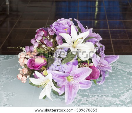 Flowers in pastel styles.Background of Beautiful flower decoration.beautiful flowers made with color filters.  flowers in vase on nature background.selective focus. - stock photo