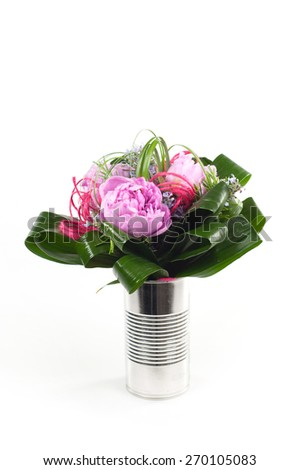 flowers in the can - stock photo