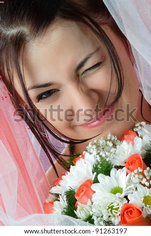 flowers in their hair beautiful woman - stock photo