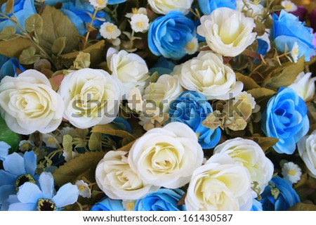 flowers mixed bouquet for background - stock photo