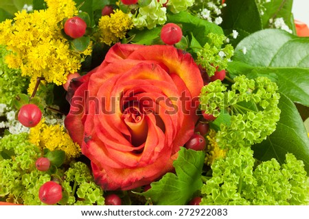 flowers of love in detail - stock photo