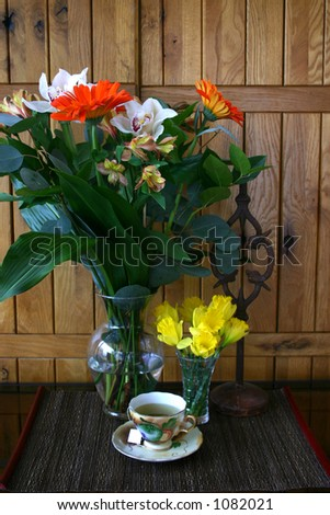 Flowers Tea - stock photo