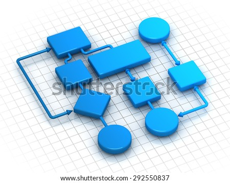 Flowing Chart , computer generated image. - stock photo
