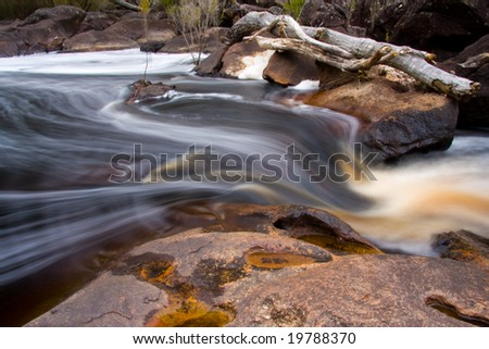 Flowing water - stock photo