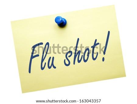 Flu shot ! - stock photo