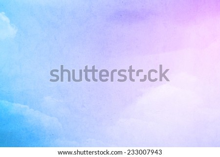 fluffy cloud on grunge pastel background - stock photo