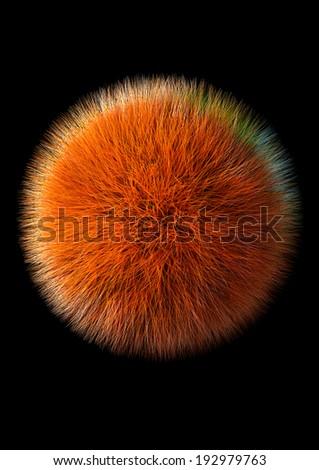 Fluffy Sphere - stock photo
