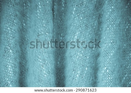 Fluffy wool material background.  Vintage woven texture. - stock photo
