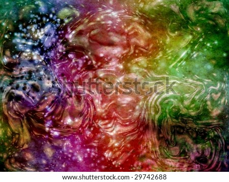 Fluid Psychedelic Abstract - stock photo