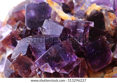 fluorite mineral as very nice natural background - stock photo