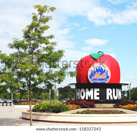 FLUSHING, NY -  AUGUST 26:  Citi Field, home of major league baseball team the New York Mets on August 26, 2012 in Flushing, NY. - stock photo