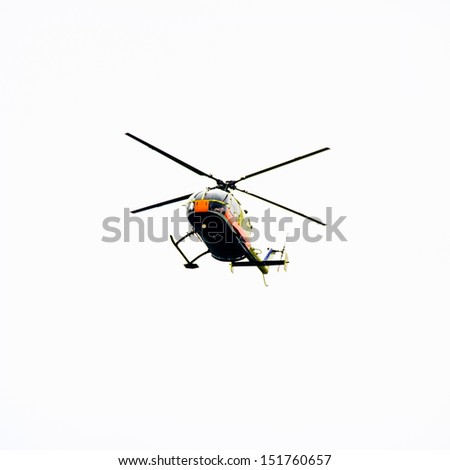 fly helicopter show - stock photo
