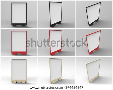 Flyer Display 3D Render is a professional realistic 3D Render of plastic stand display customized for A size flyers or posters, used for marketing campaigns, product placement, and branding campaigns. - stock photo