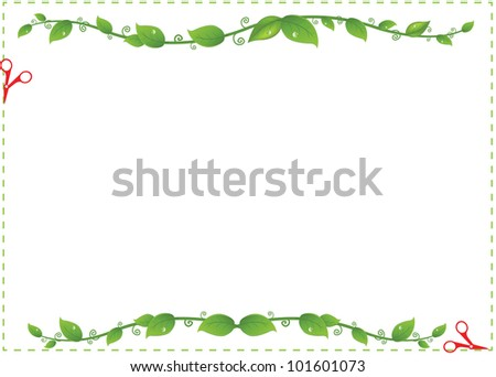 Flyer Sale With Branches And Leaflets - stock photo