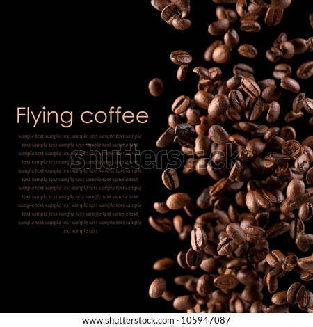 Flying coffee - stock photo