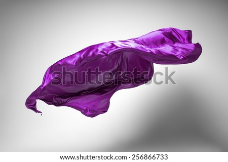 flying fabric - high speed studio shot, art object, design element - stock photo