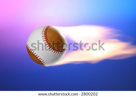 Flying Fire Ball - stock photo