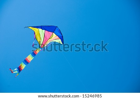 Flying kite - stock photo