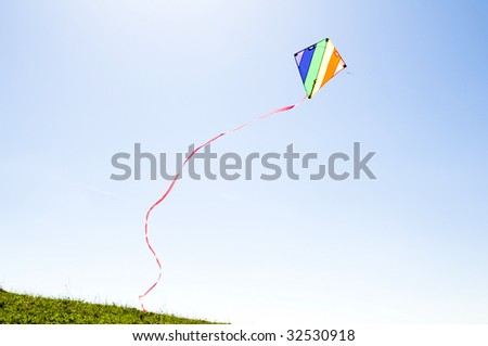 flying kite - stock photo