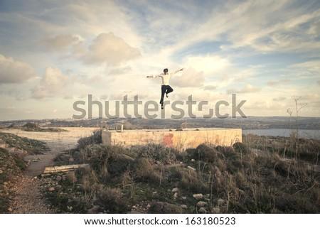 Flying Towards the Sky - stock photo