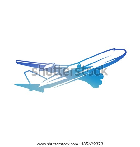 Flying vintage airplane. - stock photo