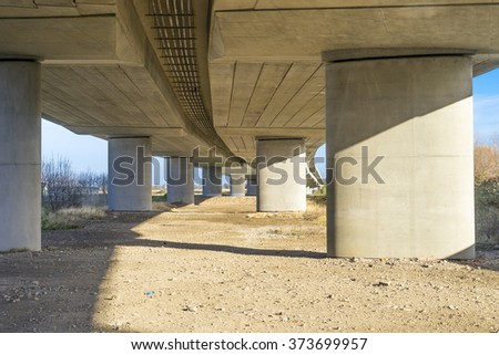 Flyover viewed from below - stock photo
