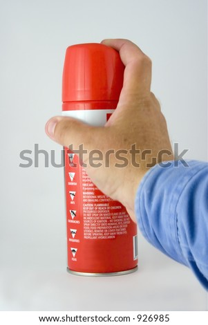 Flyspray about to be used - stock photo