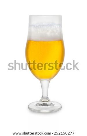 Foam Belgium Ale #2 - stock photo
