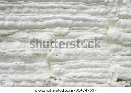 Foam construction - stock photo