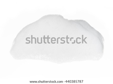Foam on white background - stock photo
