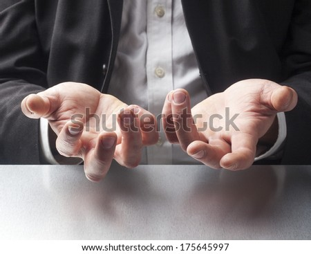 focus on financial male manager - stock photo