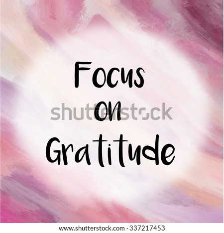 Focus on gratitude message over purple painted background - stock photo
