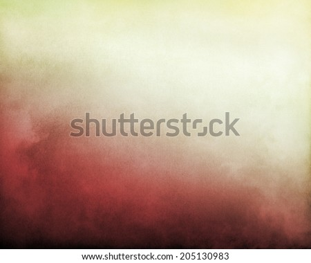 Fog and clouds on a red to bright, yellowish white textured gradient background.  Image displays significant paper grain and texture at 100 percent. - stock photo