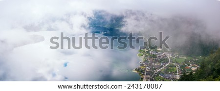 fog over the city - stock photo